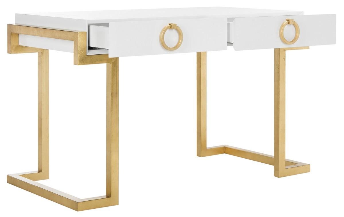 Desks Color White Lacquer Gold Save