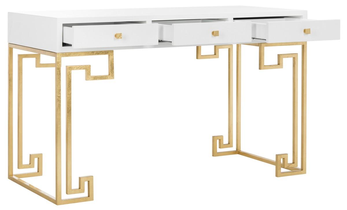 Desks Color White Gold Leaf Save