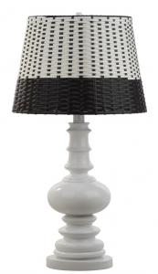 MACEN TABLE LAMP Item: TBL4062B Color: WHITE   BLACK / WHITE
