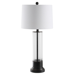 JAYSE TABLE LAMP Item: TBL4123A SET2 Color: BLACK / CLEAR   OFF WHITE