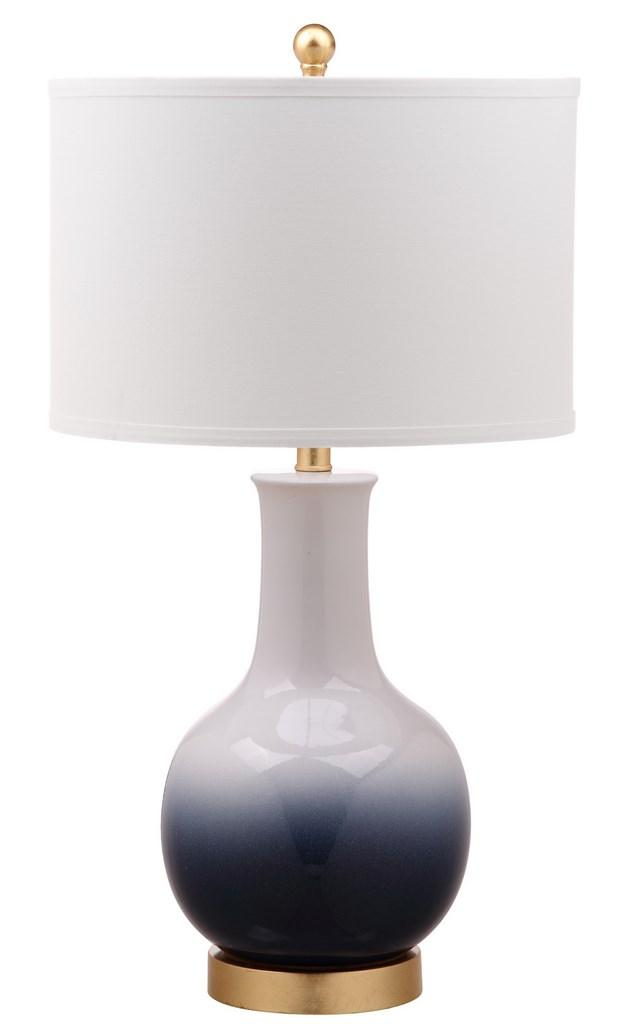 ALFIO TABLE LAMP Item: TBL4032B Color: NAVY / WHITE   OFF WHITE