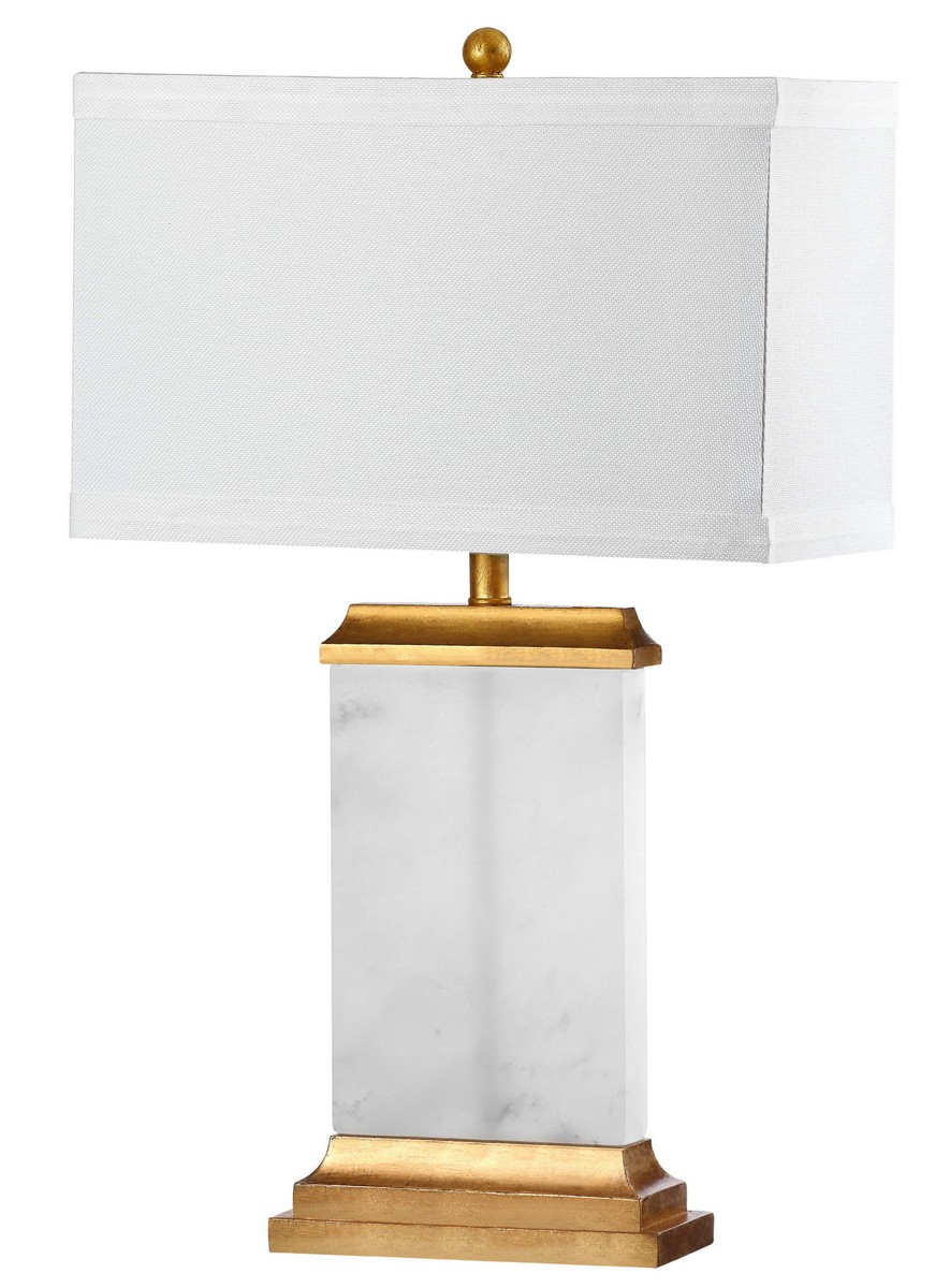 SUSANNAH ALABASTER TABLE LAMP Item: TBL4068A Color: WHITE   OFF WHITE