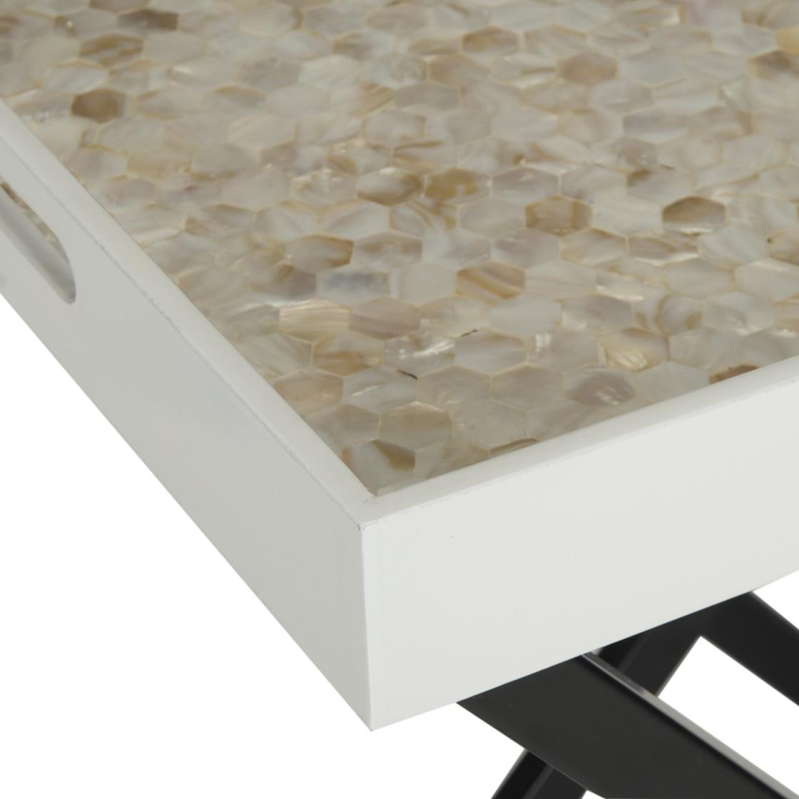 Cream Mother Of Pearl Tray Table Safavieh Com