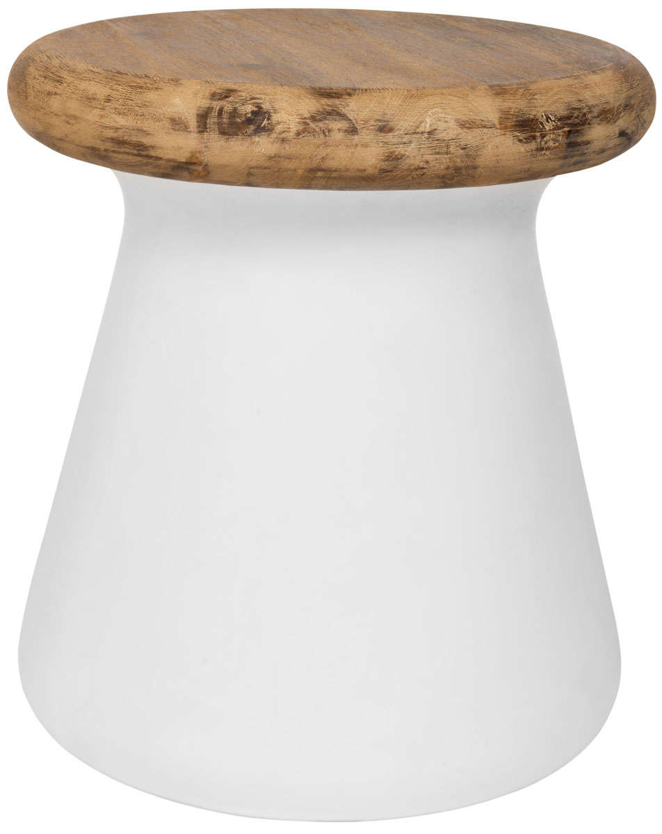 Beau BUTTON INDOOR/OUTDOOR MODERN CONCRETE ROUND 18.1 INCH H ACCENT TABLE  VNN1005B ACCENT TABLES. Color: Ivory