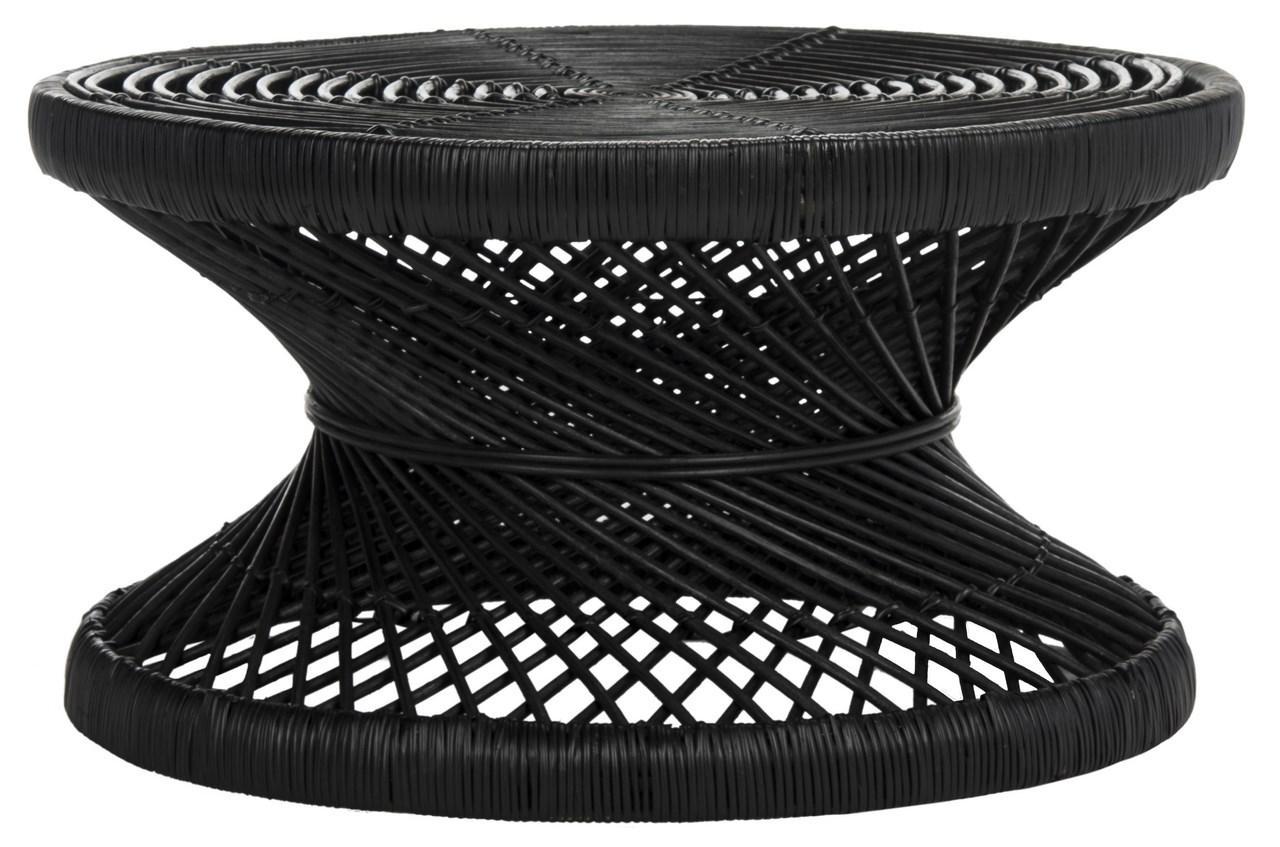 Grimson Large Bowed Coffee Table Item Wik6507a Color Black
