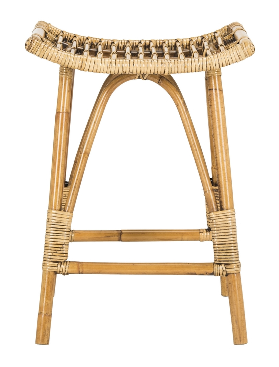 LEDA RATTAN COUNTER STOOL Item: WIK6512A Color: Honey Brown