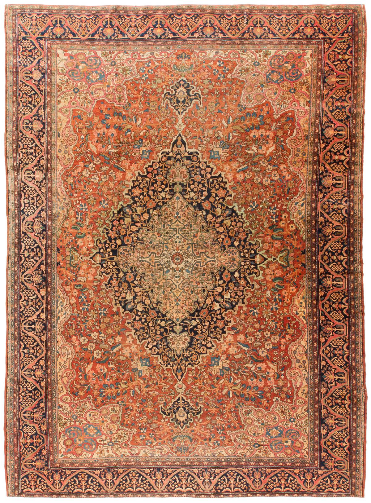 Rug Ant174023 Farahan Sarouk Antique Area Rugs By Safavieh