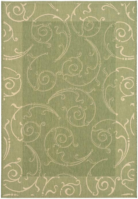 Tone on Tone Green Indoor Outdoor Rug - Safavieh Rugs