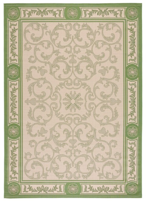 French Medallion Patio Rug Courtyard Collection Safavieh