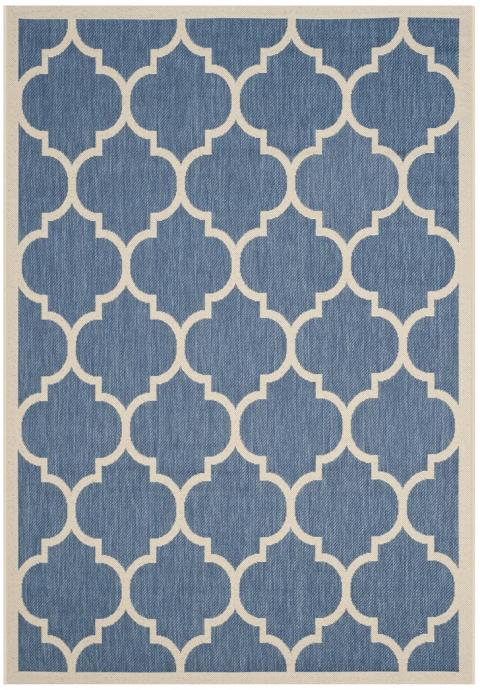 Blue Tile Indoor Outdoor Rug Safavieh Com