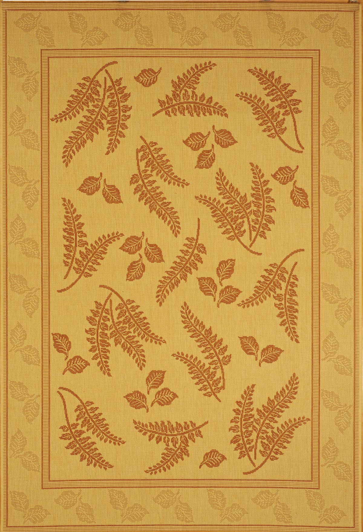 Courtyard Collection Leaf Pattern Outdoor Rug Safavieh