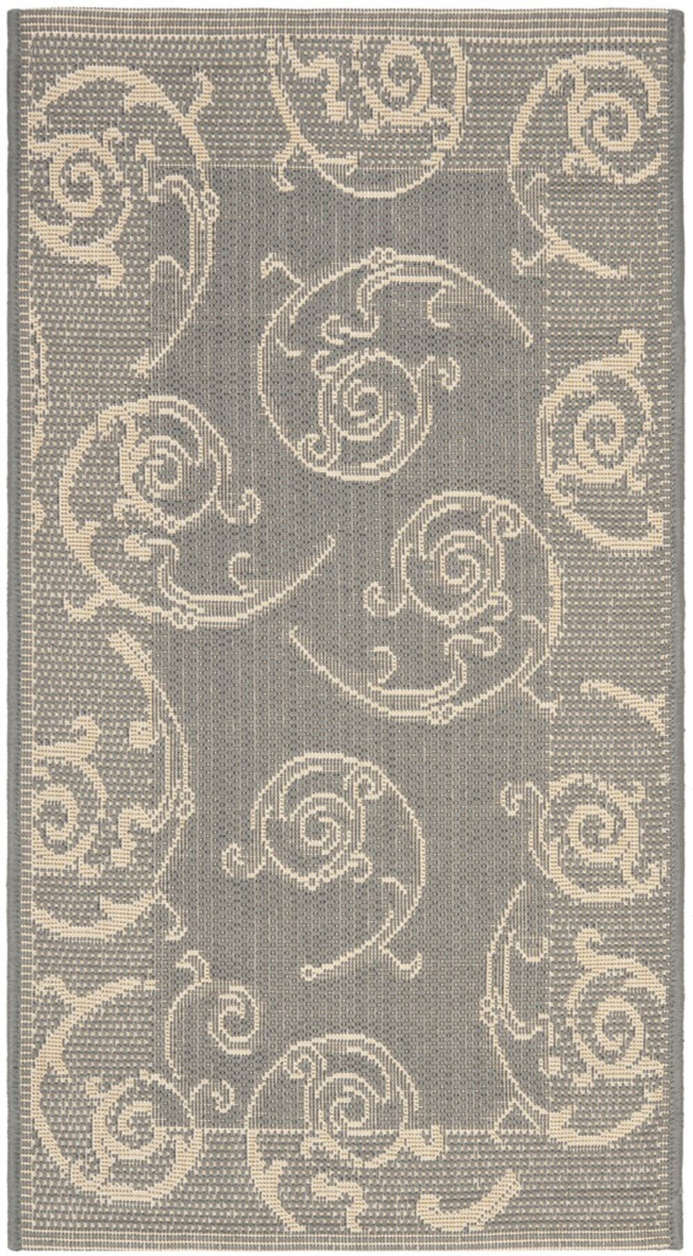 Grey Vine Scroll Area Rug Safavieh Indoor Outdoor Rugs
