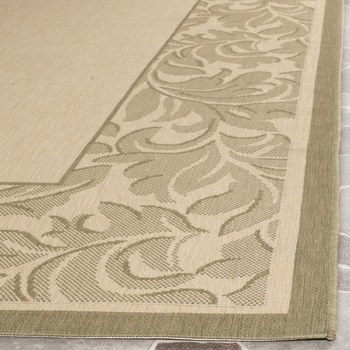 Rug Cy2666 1e01 Acanthus Border Courtyard Area Rugs By