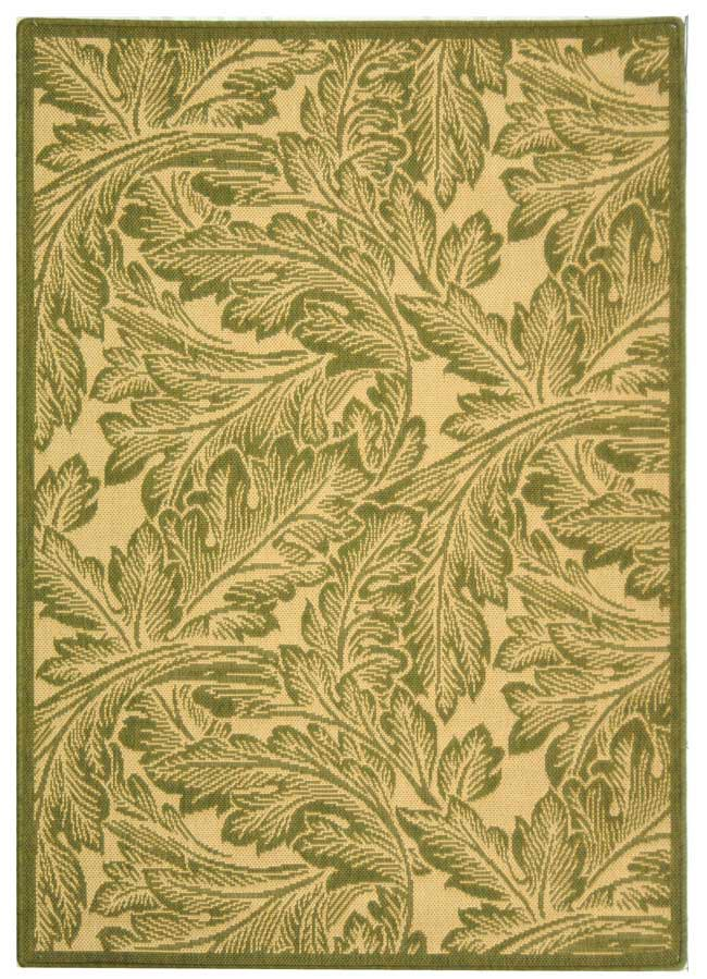 Olive Leaves Area Rug Safavieh Indoor Outdoor Carpets