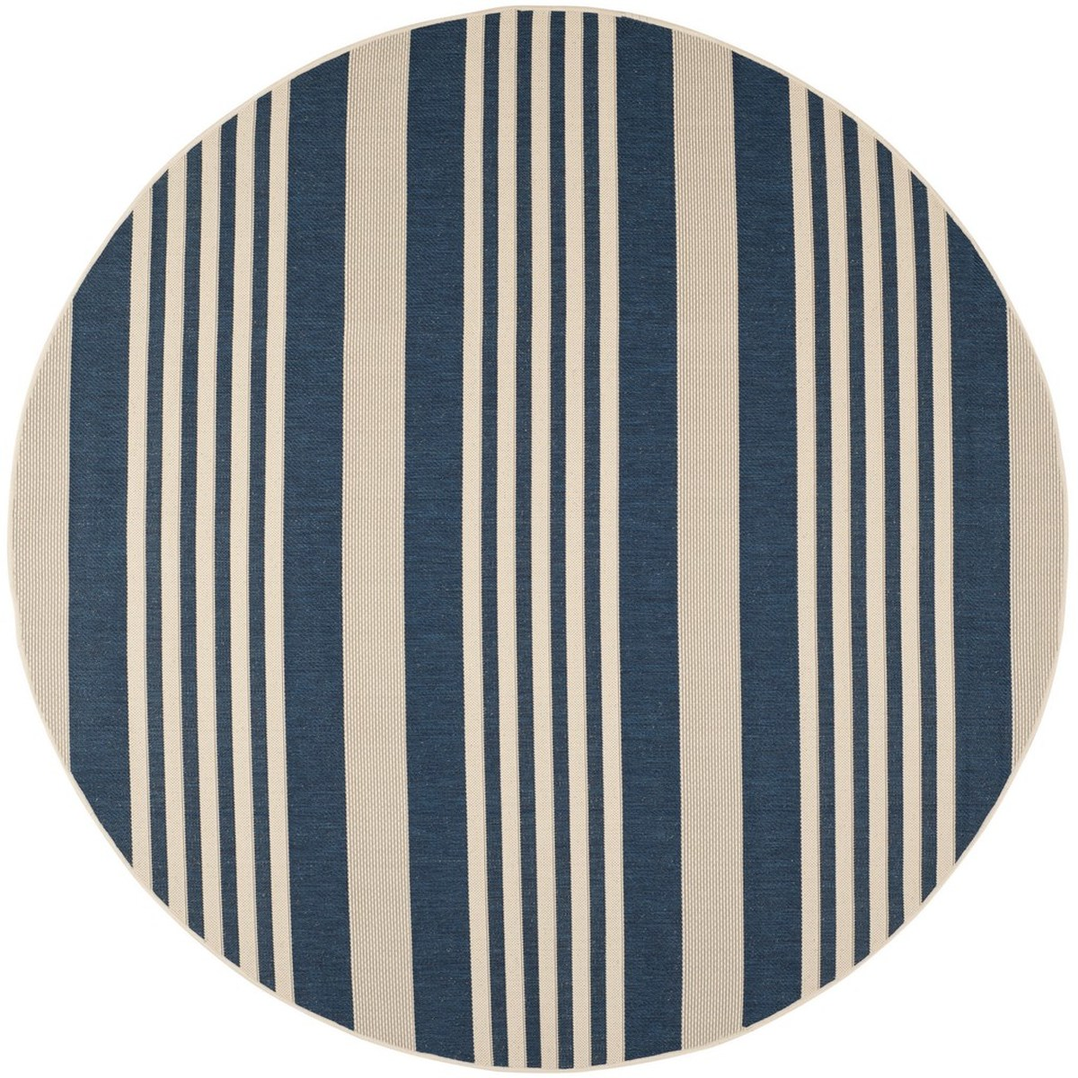 Navy Blue Stripe Indoor Outdoor Rug Safavieh Com