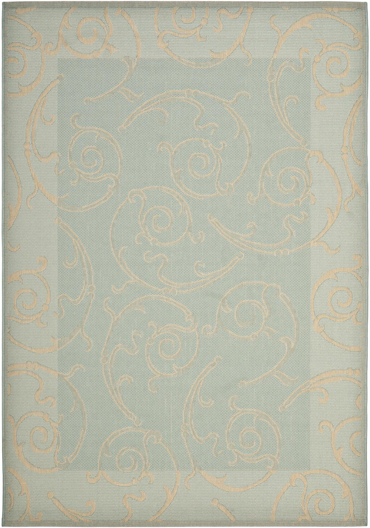 Two Toned Blue Area Rug