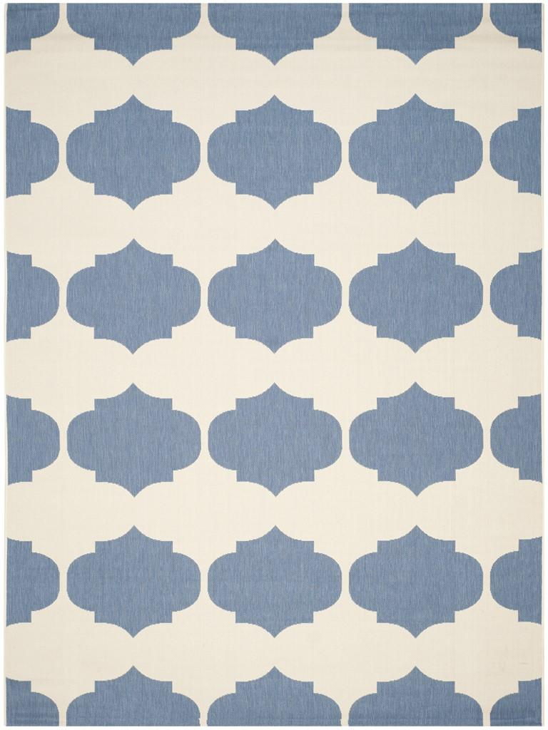 All Weather Blue Amp Beige Area Rug Safavieh Outdoor Rugs