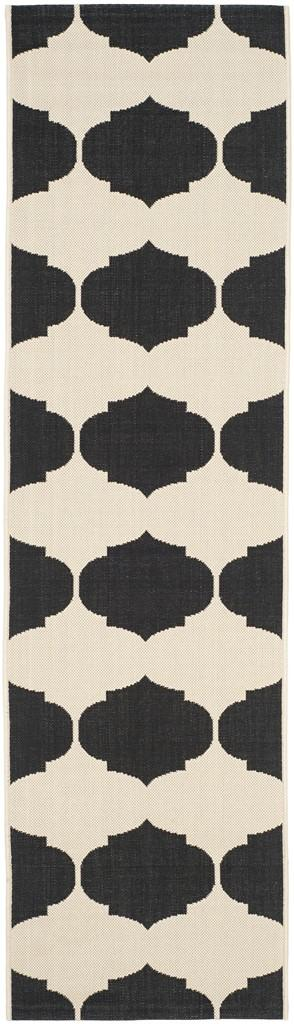 Beige Amp Black Tile Indoor Outdoor Rug Safavieh Com