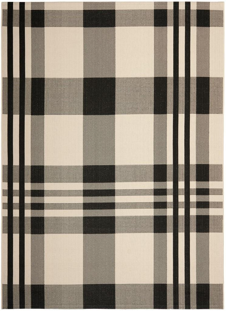 Black Amp Bone Plaid Outdoor Rug Safavieh Com