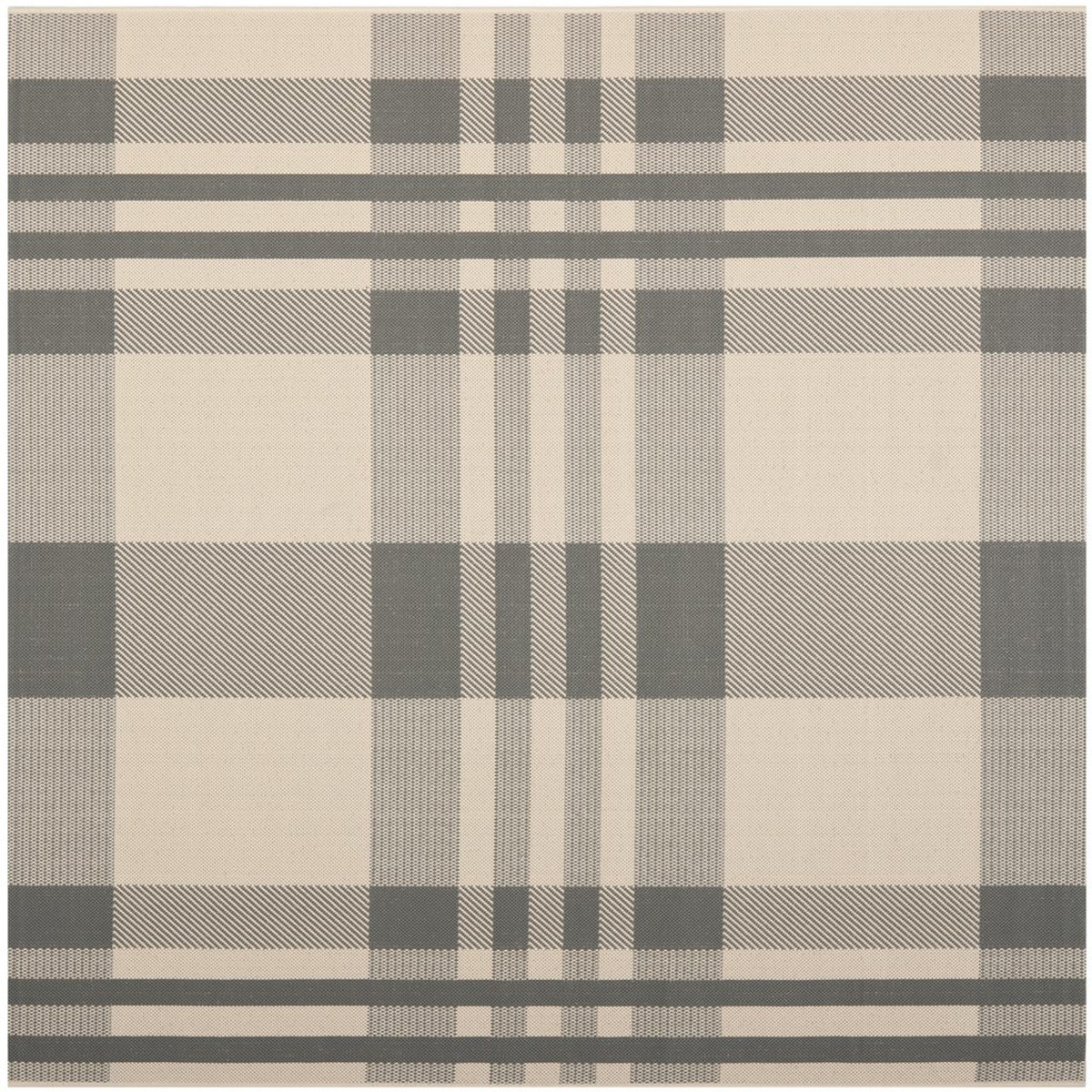 Grey Plaid Indoor Outdoor Rug Safavieh Courtyard Rugs