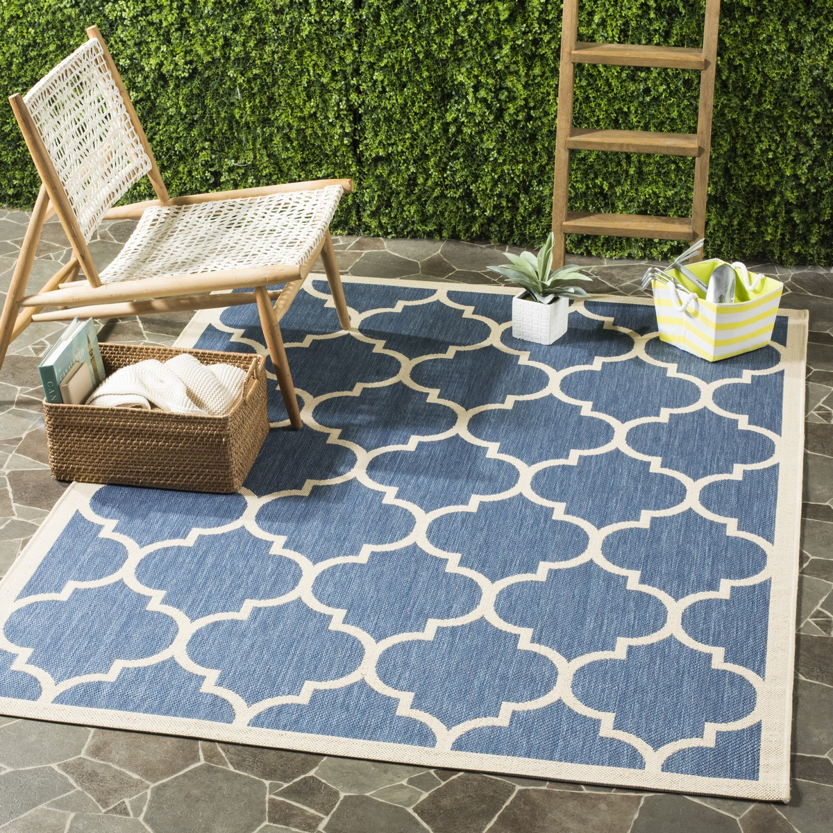 blue tile indoor outdoor rug. Black Bedroom Furniture Sets. Home Design Ideas