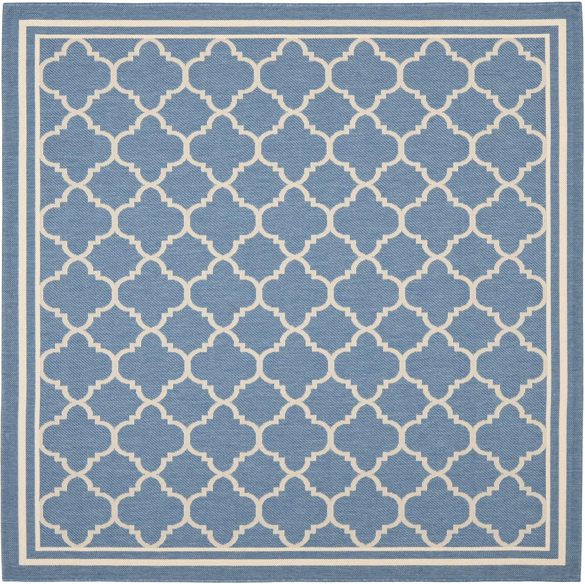 Blue easy care indoor outdoor rug for Easy rugs