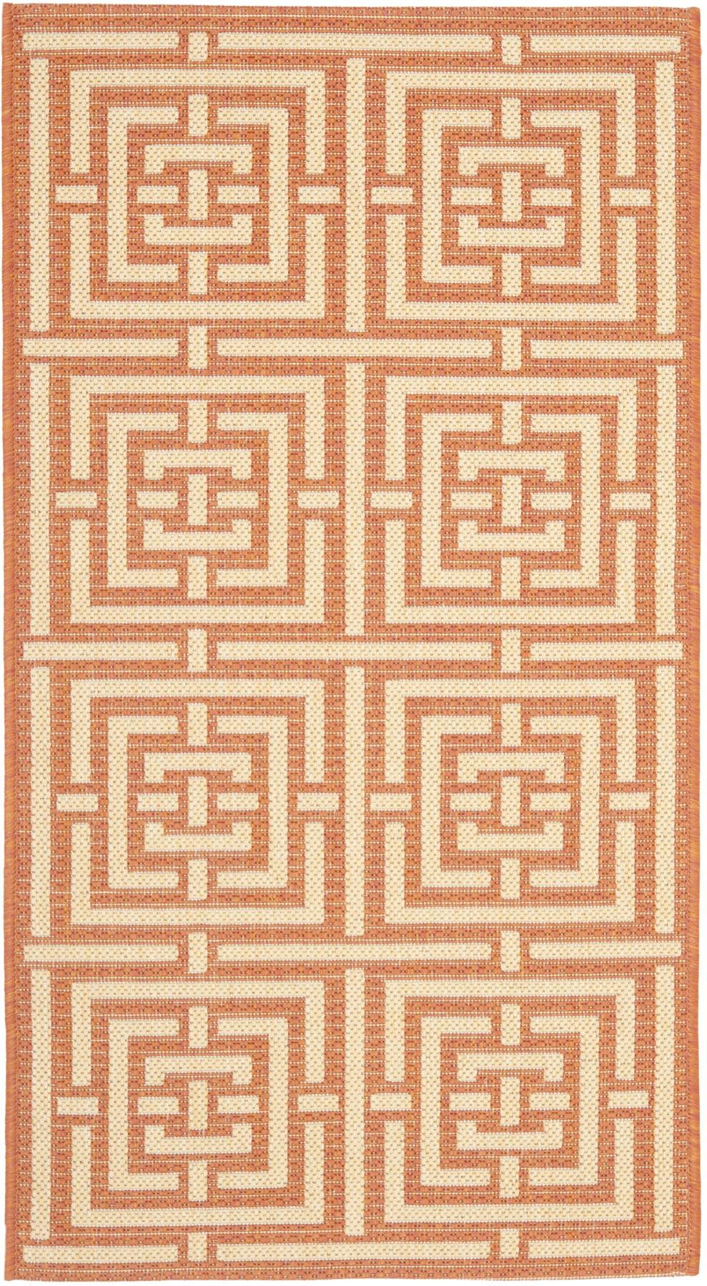 Terracotta & Cream Indoor-Outdoor Carpet - Safavieh.com