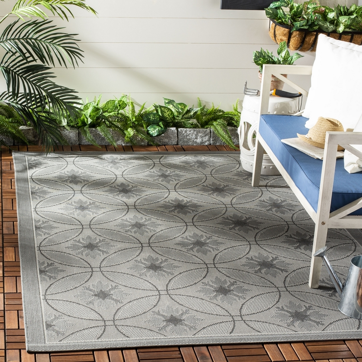 Grey Indoor Outdoor Area Rug Safavieh Com