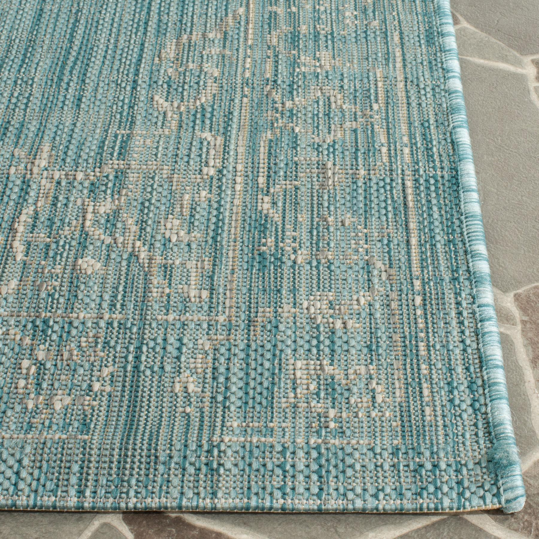 Turquoise Indoor Outdoor Rug