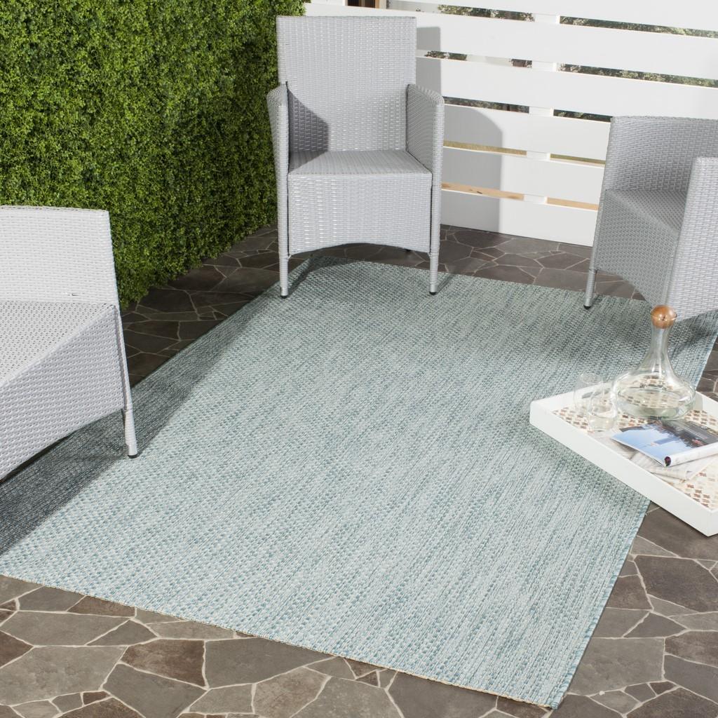 Aqua Blue Indoor-Outdoor Rug