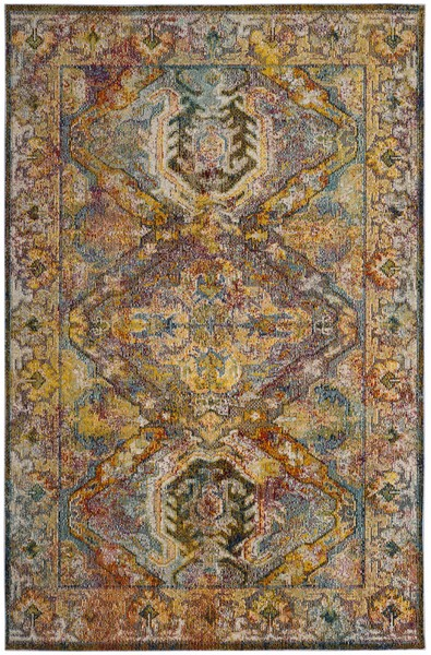 Colorful Transitional Area Rugs Crystal Collection Safavieh