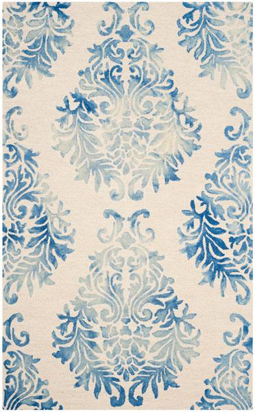 Blue Floral Tie Dyed Area Rug Dip Dye Rugs Safavieh Com