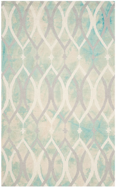 Blue Green Watercolor Area Rug