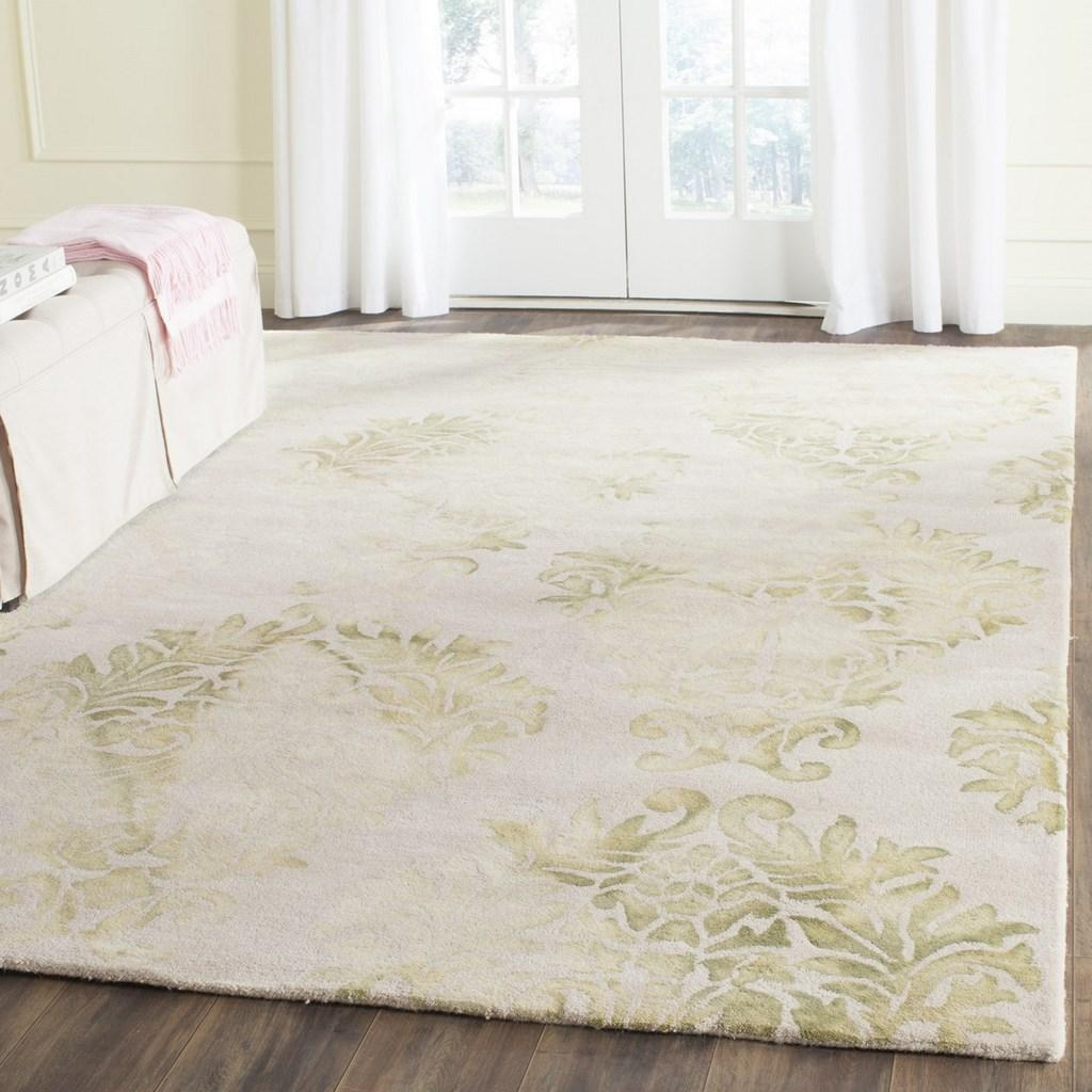 Green Floral Tie Dyed Rug Dip Dye Collection Safavieh