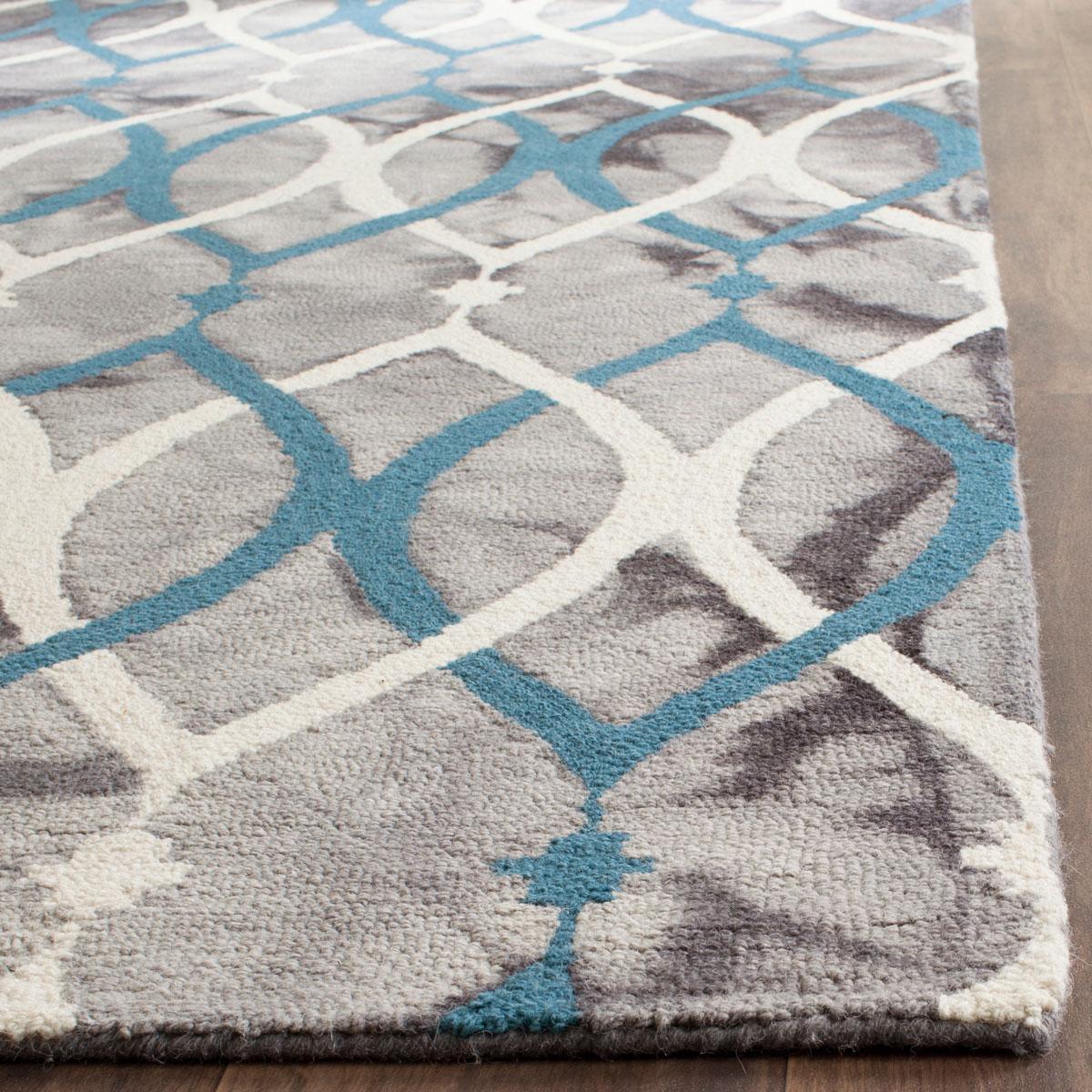 Blue Amp Grey Watercolor Rug Dip Dye Collection Safavieh