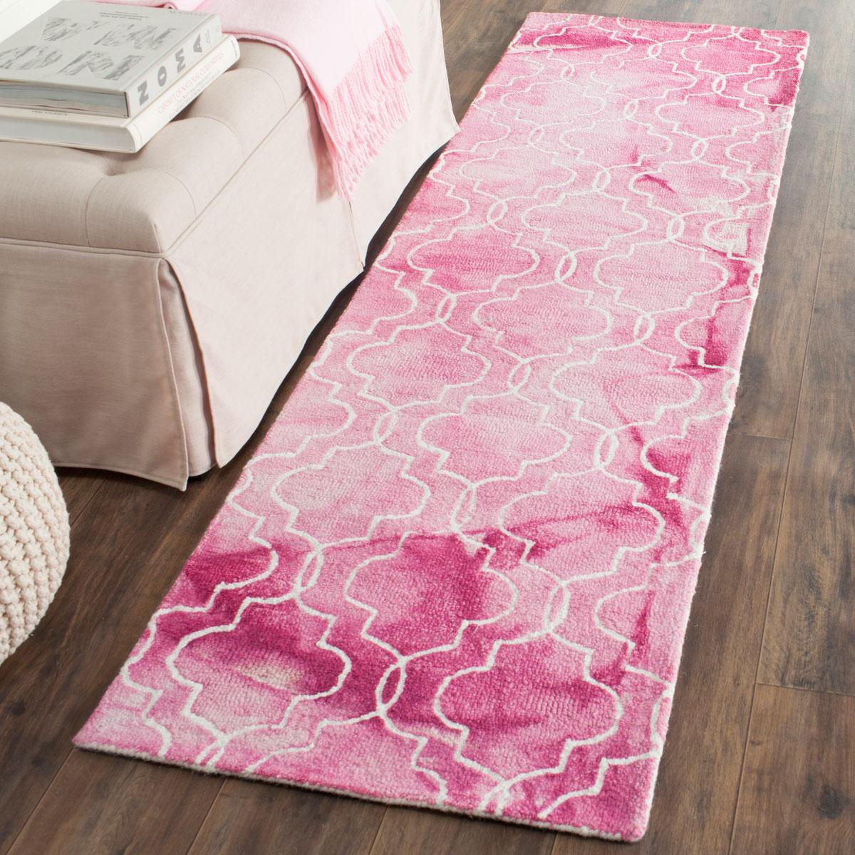 Rose Watercolor Rug Dip Dye Rugs Safavieh Com