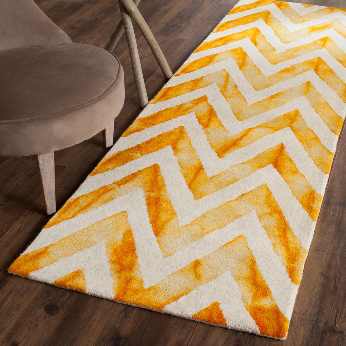 Gold Tie Dyed Carpet Dip Dye Rugs Safavieh