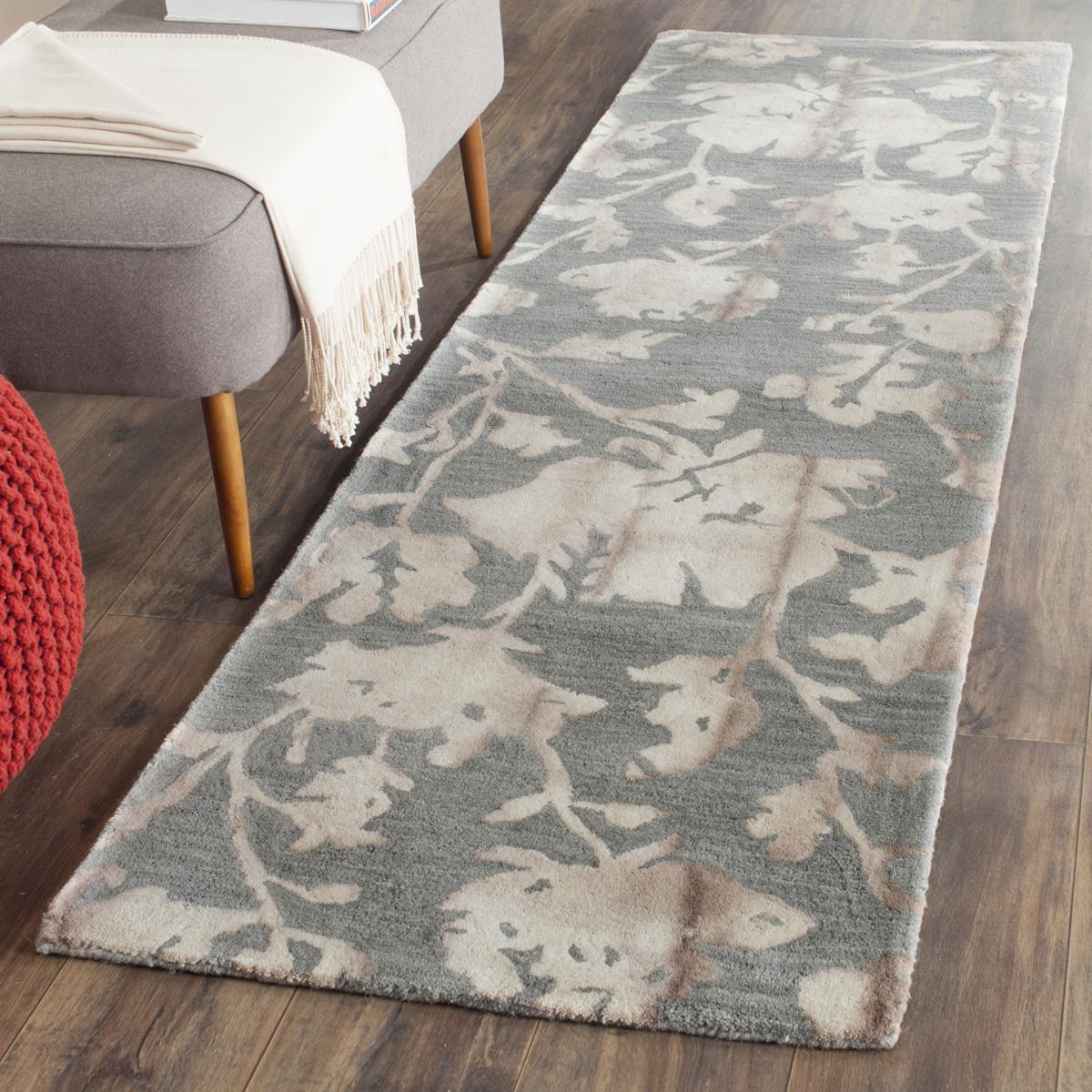 Beige Tie Dyed Floral Rug Dip Dye Collection Safavieh