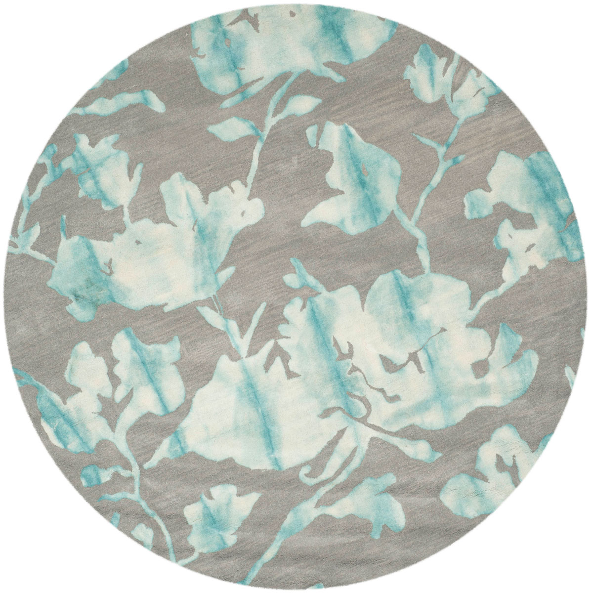 Blue Tie-Dye Flower Area Rug - Safavieh