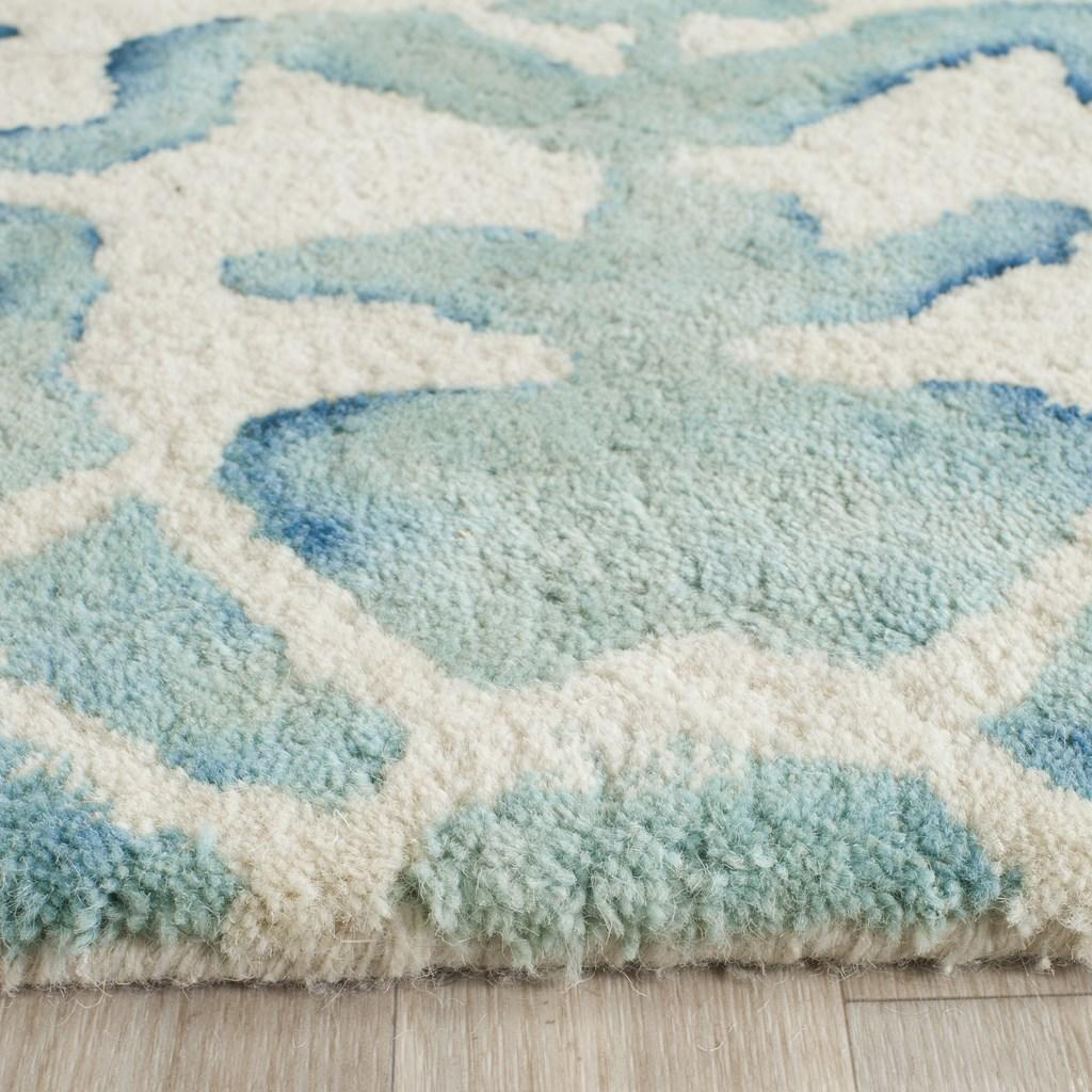 Blue Floral Tie Dyed Rug Dip Dye Collection Safavieh Com