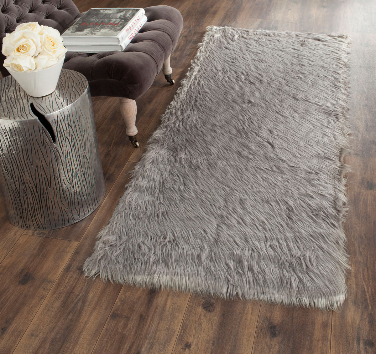 rug fss235d - faux sheep skin area rugs by safavieh
