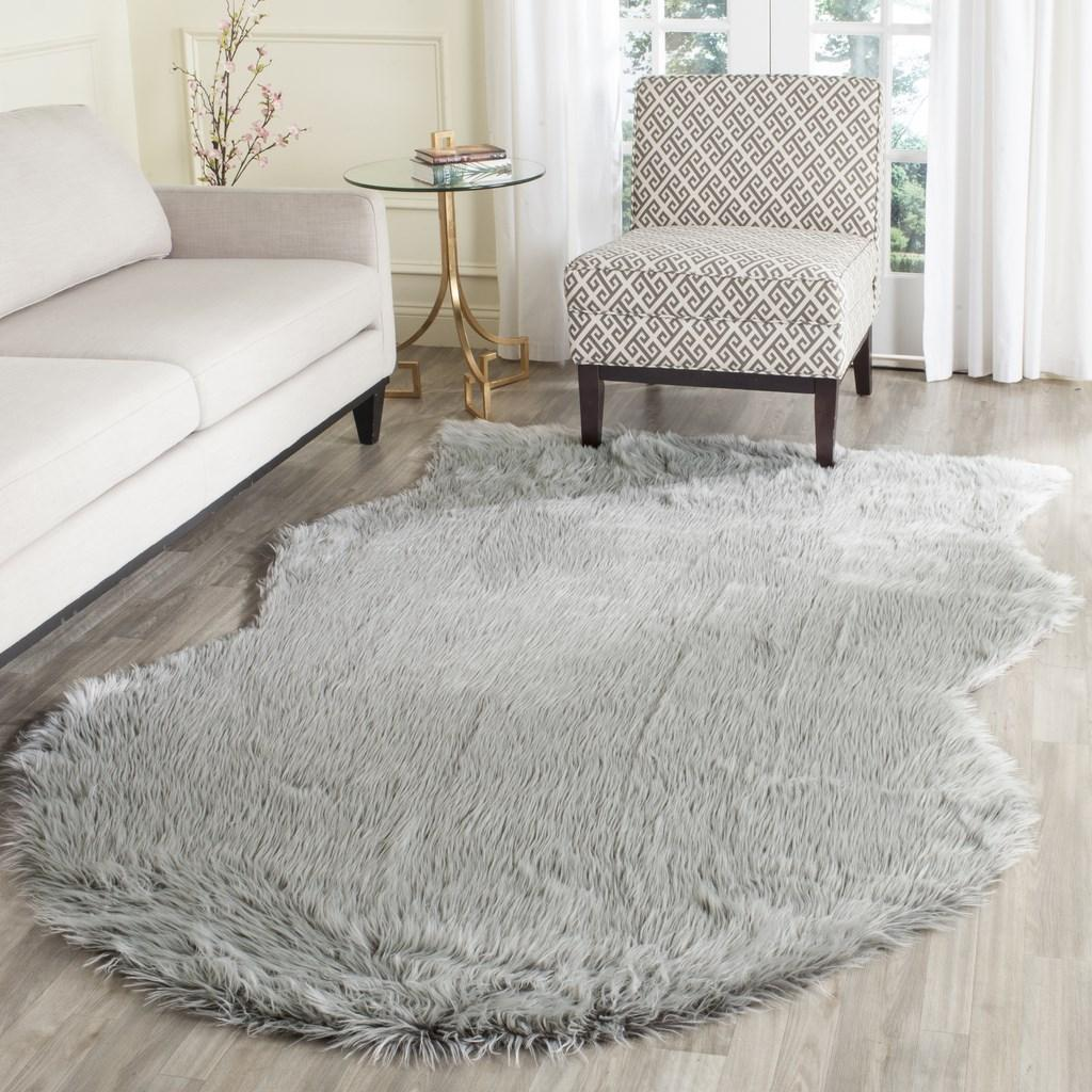 Rug Fss118a Faux Sheep Skin Area Rugs By Safavieh