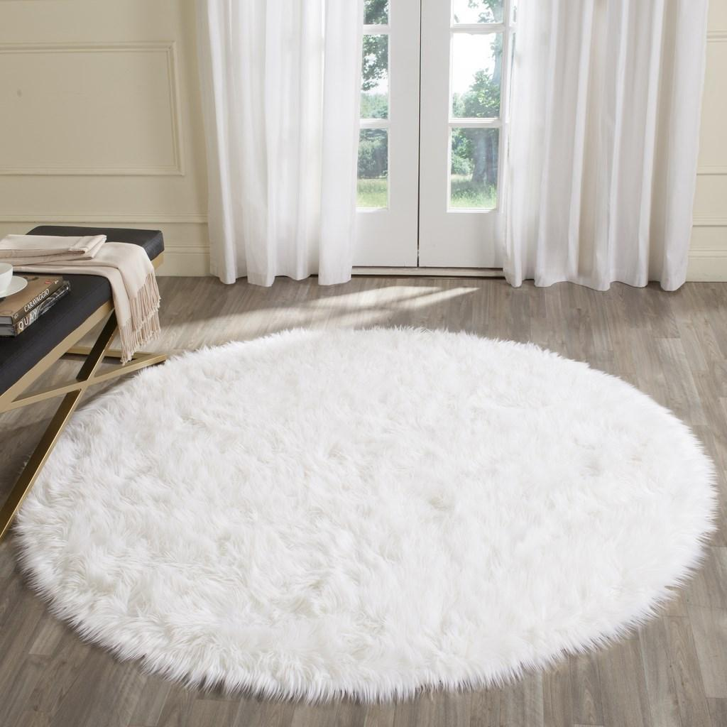 Rug Fss235a Faux Sheep Skin Area Rugs By Safavieh
