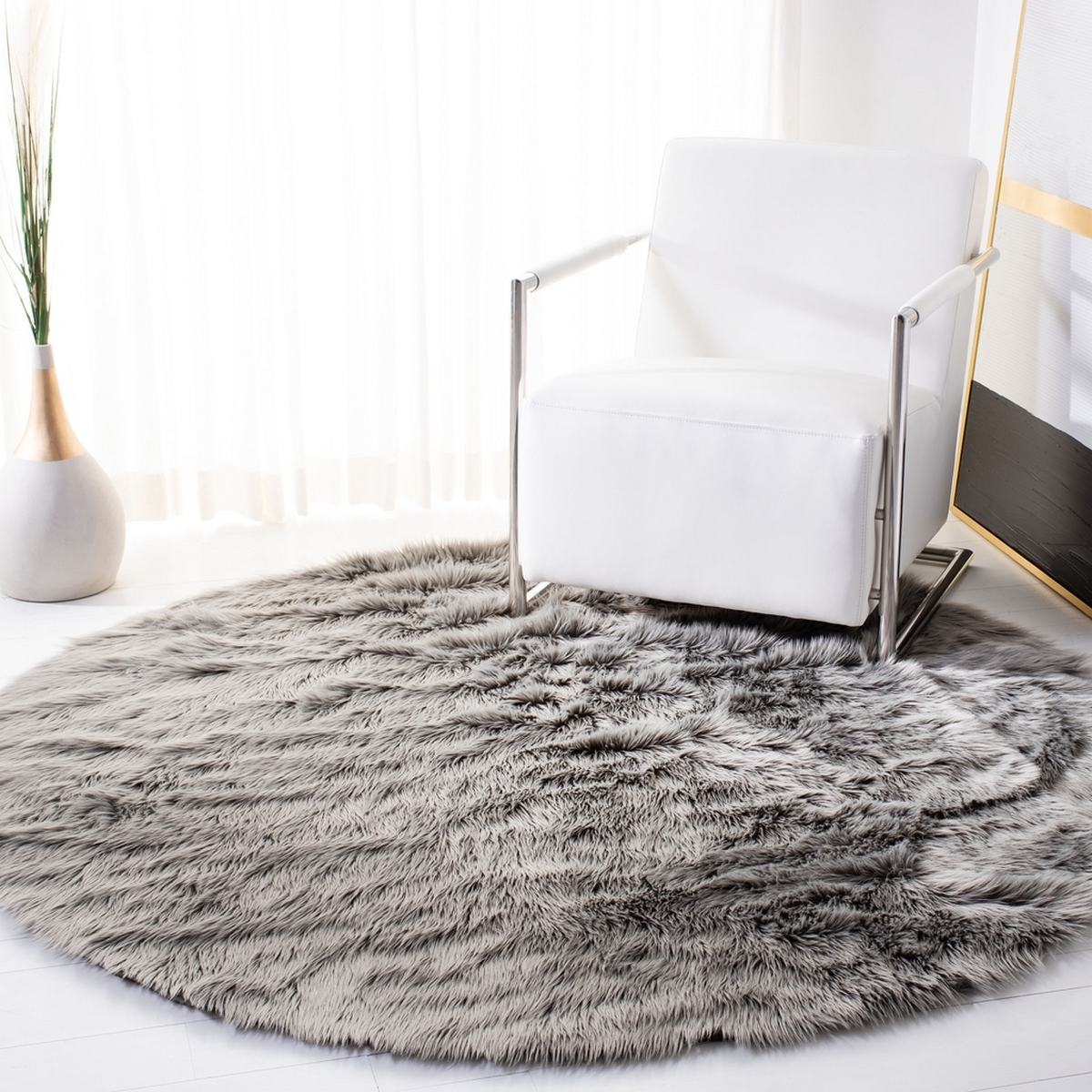 Rug Fss235d Faux Sheep Skin Area Rugs By Safavieh