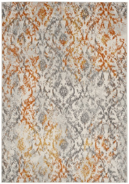 Orange Amp Cream Vintage Design Area Rug Safavieh Com