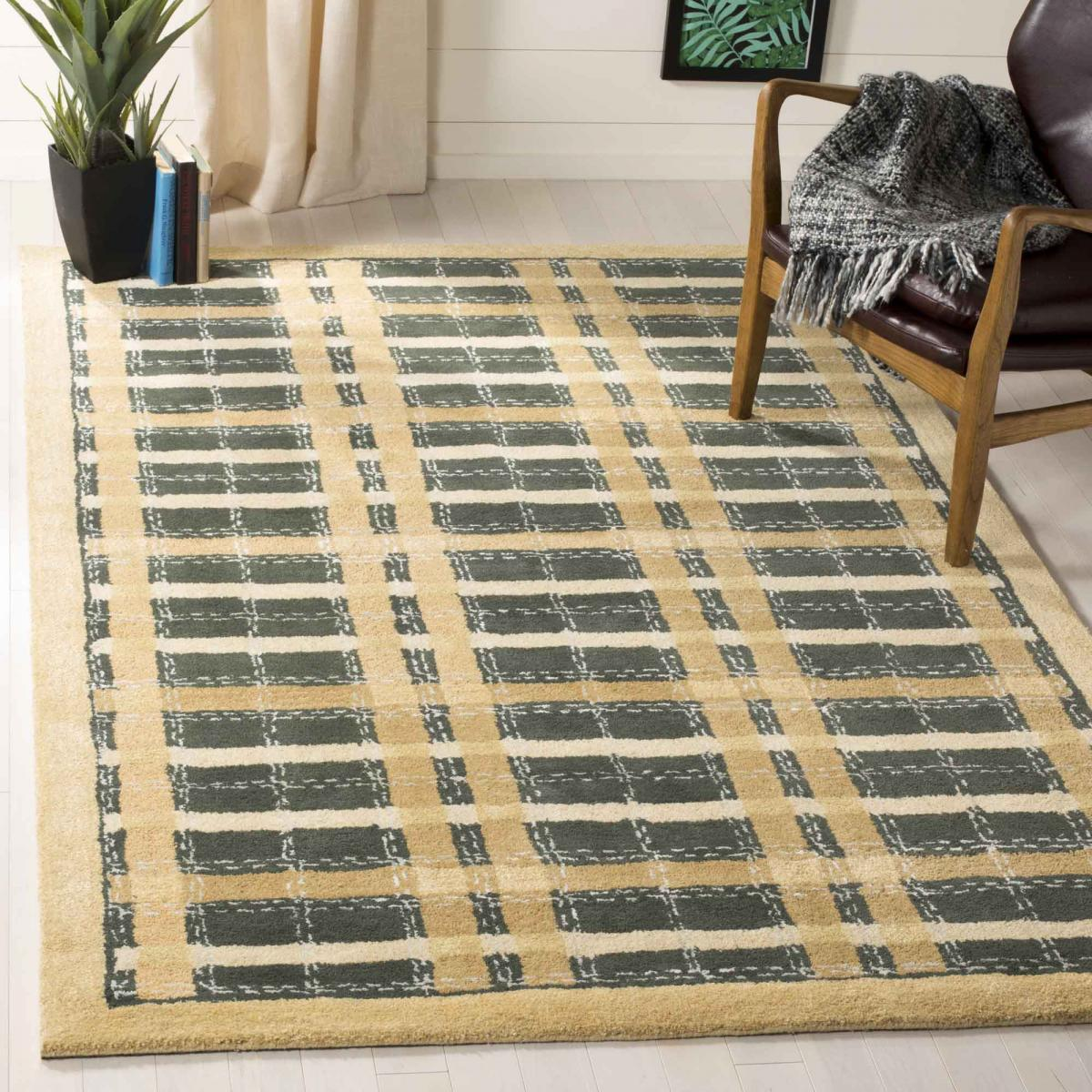 Plaid Rug: Rug MSR3613A-Colorweave Plaid