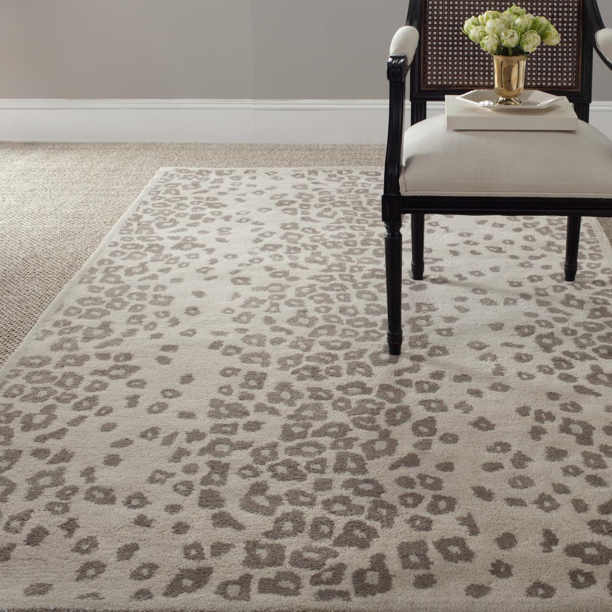 Gray Leopard Rug