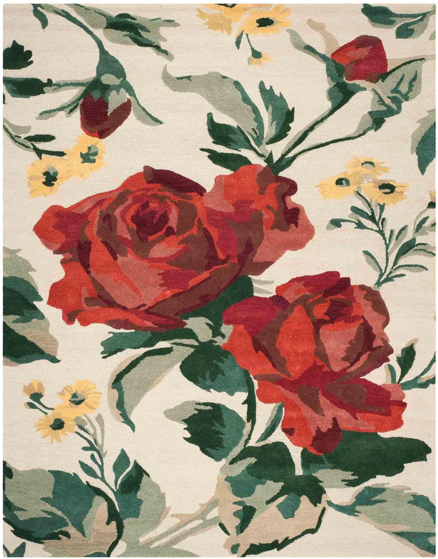 Rug Msr4717a Rose Chintz Martha Stewart Area Rugs By