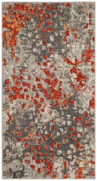 Orange Grey Watercolor Area Rug Monaco Rugs By Safavieh