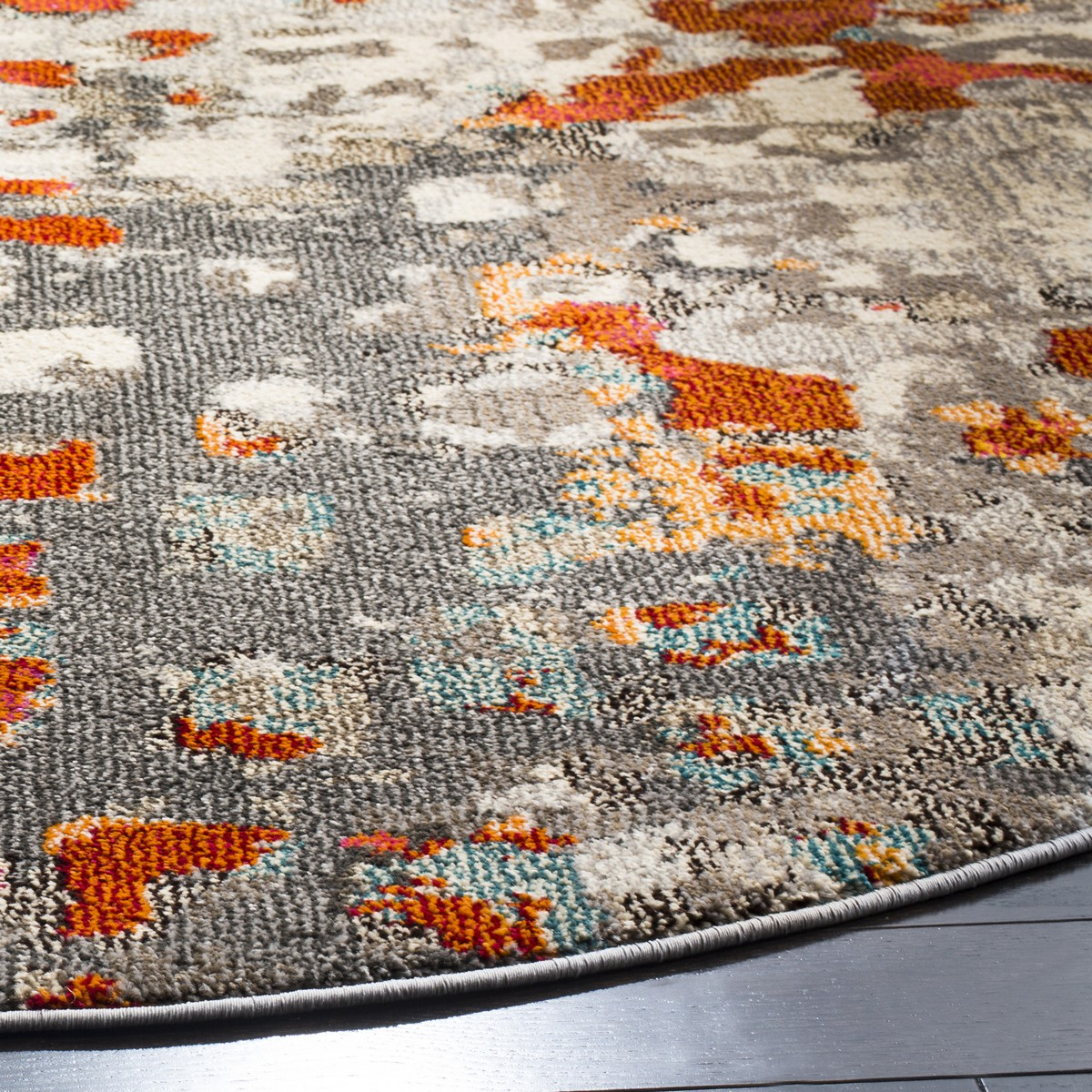 Orange Amp Grey Watercolor Area Rug Monaco Rugs By Safavieh